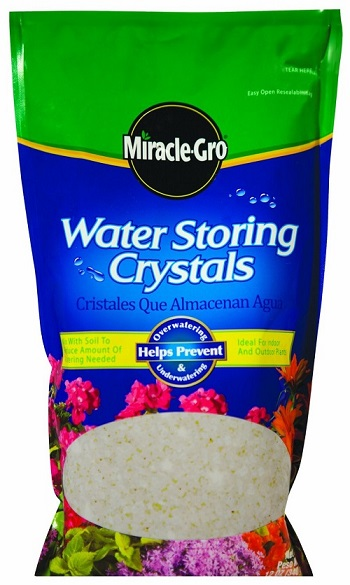 Water-storing crystals