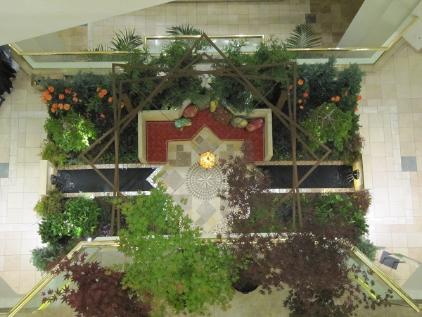 Moorish gardens are designed to be viewed by God. Here is God's view from the 3rd floor.