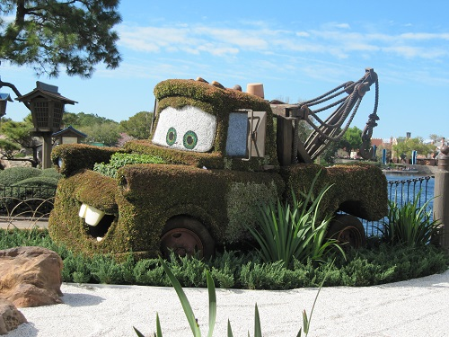 Tow Mater Epcot International Flower and Garden Festival