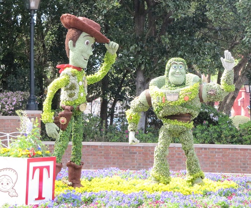 Buzz Woody Epcot International Flower and Garden Festival