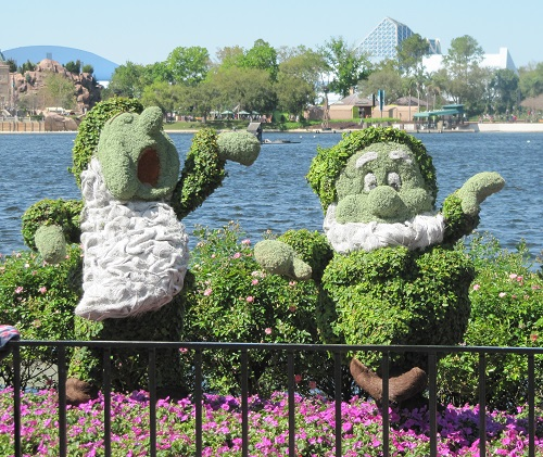 Snow White Dwarfs Epcot International Flower and Garden Festival
