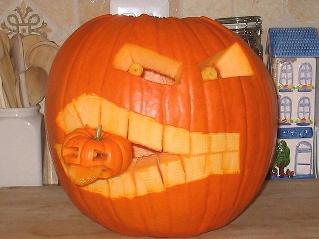 Jack O'Lantern Carved Pumpkin